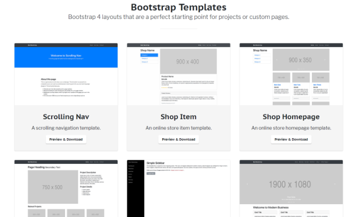 Bootstrapのテンプレート