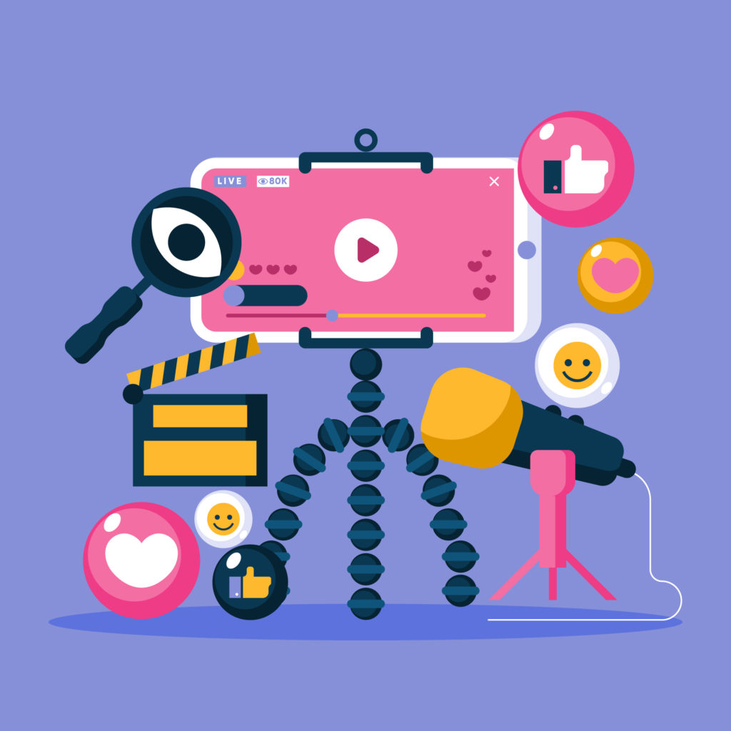 ライブ配信ができる4つSNS&動画メディア。